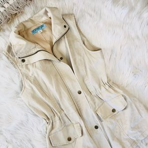 Anthropologie beige vest